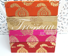 Red Brocade Silk Jewellery Gift Box