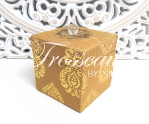 Gold Silk Brocade Favor Box