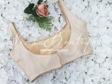 The NB Cream Silk Blouse Gold edging 10-12