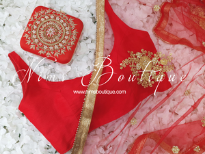 The NB Red Silk Blouse 10-12