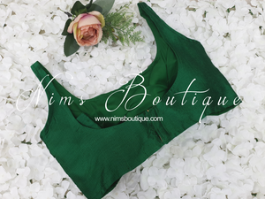 The NB Emerald Green Silk Blouse 10-12
