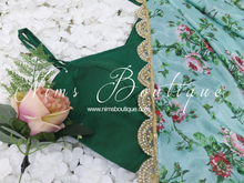 The NB Emerald Green Blouse with straps 10-12