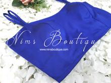 The NB Royal Blue Blouse with straps 10-12