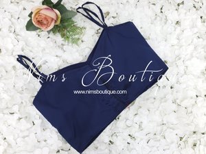 The NB Navy Blouse with straps 10-12