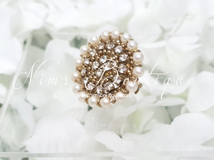 Royal Pearl & Clear Stone Ring