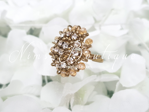 Royal Gold & Clear Stone Ring