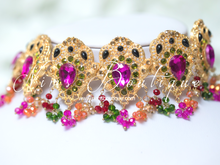 Maharani Multicolour Pink Stone & Multicolour Choker Set