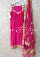 Hot Pink Silk Pajami Suit (sizes 6 to 18)
