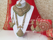 Royal Antique Gold & Green Shaadi Waheeda Set