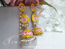 Kanika Yellow Blossom Chumke Earrings