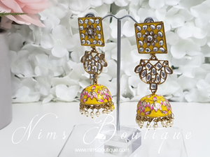 Payal Yellow Blossom Chumke Earrings