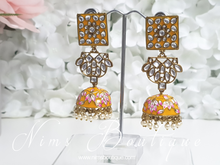 Payal Amber Blossom Chumke Earrings