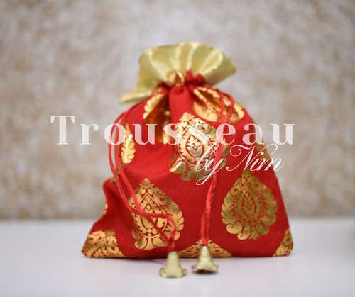 Red Printed Favor/Gift Bags
