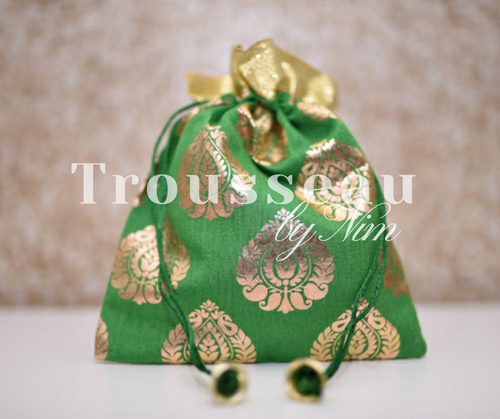 Green Printed Favor/Gift Bags