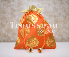 Orange Printed Favor/Gift Bags