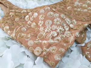Luxury NB Gold Sequin Bow Blouse (various sizes)