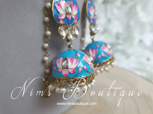 Kanika Turquoise Blossom Chumke Earrings