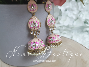 Kanika Peach Blossom Chumke Earrings