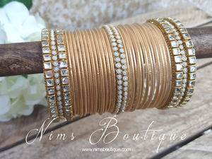 Gold & Kundan Set of Bangles (various sizes)