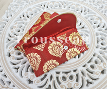 Red Paisley Brocade Money Wallets