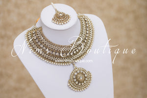 Radha Antique Gold & Pearl Set