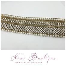 Royal Antique Gold & Pearl Cuff Bracelet
