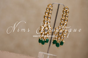 Sienna Deep Green Kundan Set
