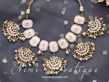 Mishka Light Pink Blossom Meenakari  Set