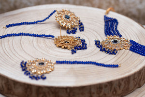 Urvashi Maharani Royal Blue Set