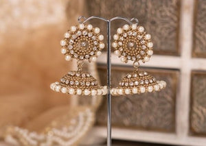 Royal Chandni Antique Gold & Pearl Chumke