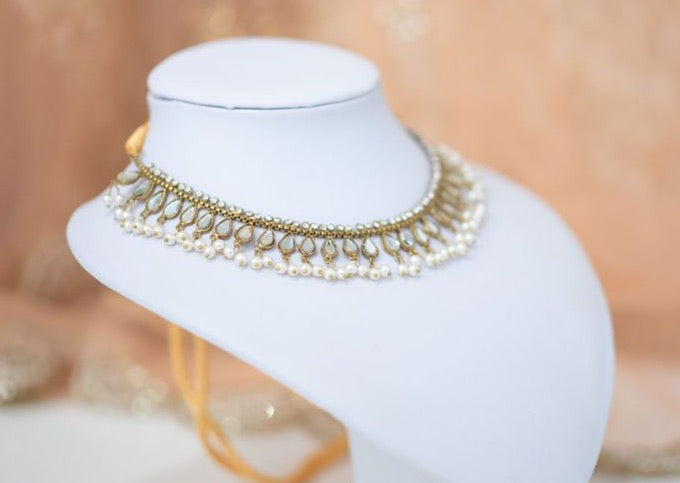 Nandini Royal Antique Gold & Pearl Necklace