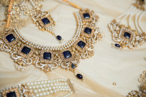 Ananya Navy Gem Maharani Set