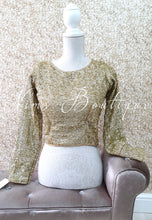 Luxury Gold Sequin Long sleeved Blouse (various sizes) - Nims Boutique
