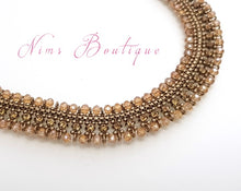 Royal Antique Gold Necklace with Gold stone