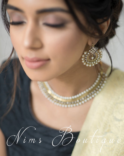 Vidya Antique Gold & Pearl Earrings