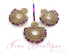 Royal Multicolour & Clear Stones Chand Tikka Set (6cm)