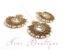 Royal Pearl & Gold Stone Chand Tikka Set (6cm)