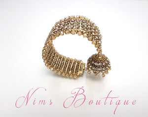 Gold Royal Bracelet with hanging chumka