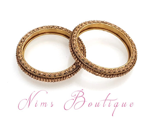 Maharani Gold Stone  Pair of Bangles