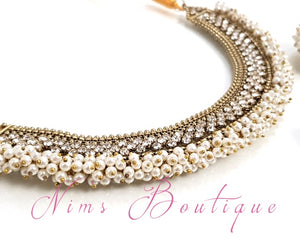 Meghna Royal Pearl Cluster Set