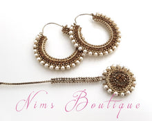 Royal Chand Bali Tikka Set with Gold Stones & Pearl