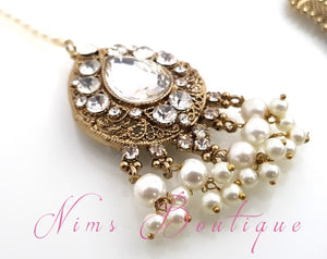 Anushka Antique Gold & Pearl Set