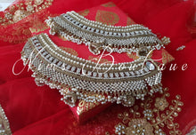 Royal Shaadi Antique Gold & Pearl Anklets