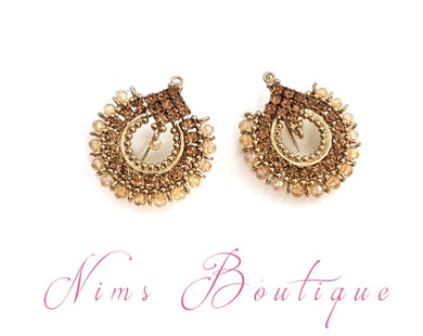 Vidya Gold Stone & Gold Earrings
