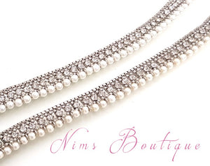 Royal Silver & Pearl Anklets