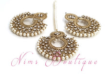 Royal Pearl & Clear Stones Chand Tikka Set (6cm)