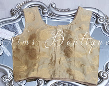 Sleeveless Gold Brocade Blouse 10-12