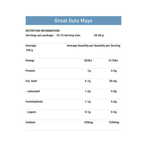 Bone Broth Sauce | Great Guts Mayo 375ml