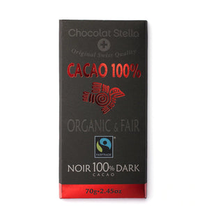 Dark Chocolate | Noir 100% Cacao 70g