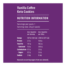 Keto Cookies | Vanilla Coffee 25g